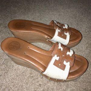 Tory Burch Terri Wedge Slide Sandals